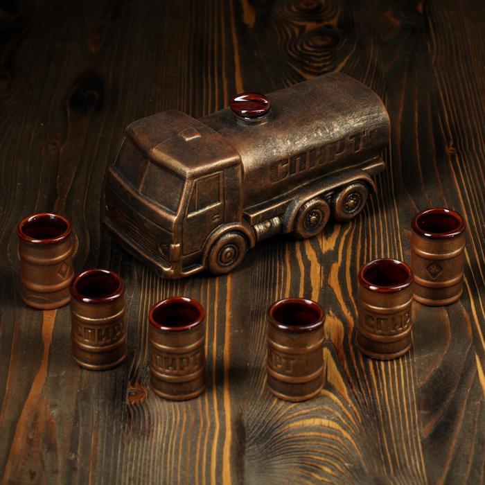 "Набор для вина ""Спиртовоз"", 7 предметов, 1,7/0,1 л"