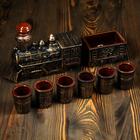 """Набор для вина """"Паровоз"""", 7 предметов в наборе, 1,2 л/0,1 мл"""