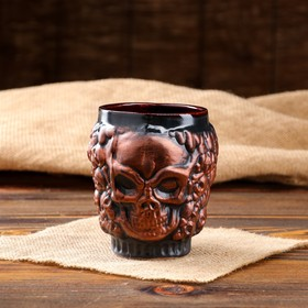 """A glass """"Skull"""" large copper"""