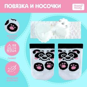 Одежда для пупса «Панда»: повязка и носочки