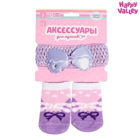 "Headband and socks for the baby ""Pointe shoes"""