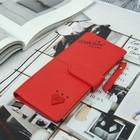 Кошелёк женский, складной, 2 отдела на кнопке, цвет красный
