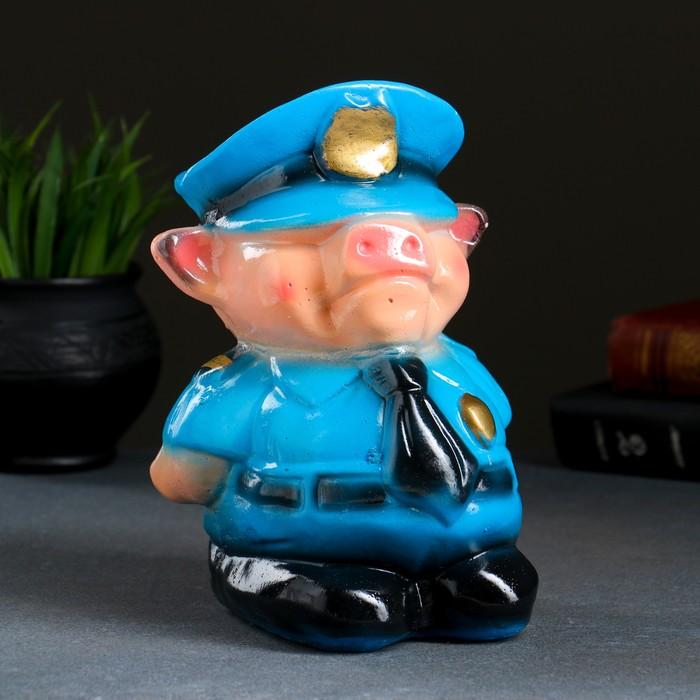 """Копилка """"Поросёнок полицейский"""", 22х17 см"""