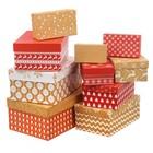 Набор коробок 10 в 1 «Зимний», 12 × 7 × 4 ‒ 32.5 × 20 × 12.5 см