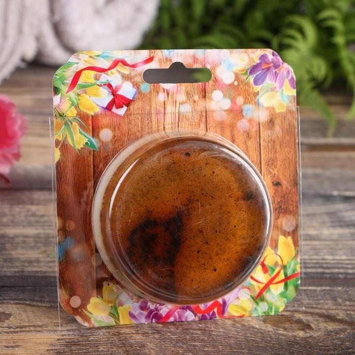 """Натуральное двухслойное мыло, кофе + тамбуканская грязь, """"Добропаровъ"""", 100гр"""