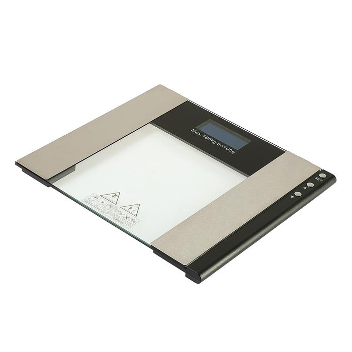 Весы напольные LuazON LVE-22, электронные, диагностические, до 180 кг, черные
