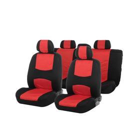 Seat covers seat TORSO Premium universal 9 items black-and-red AV-5