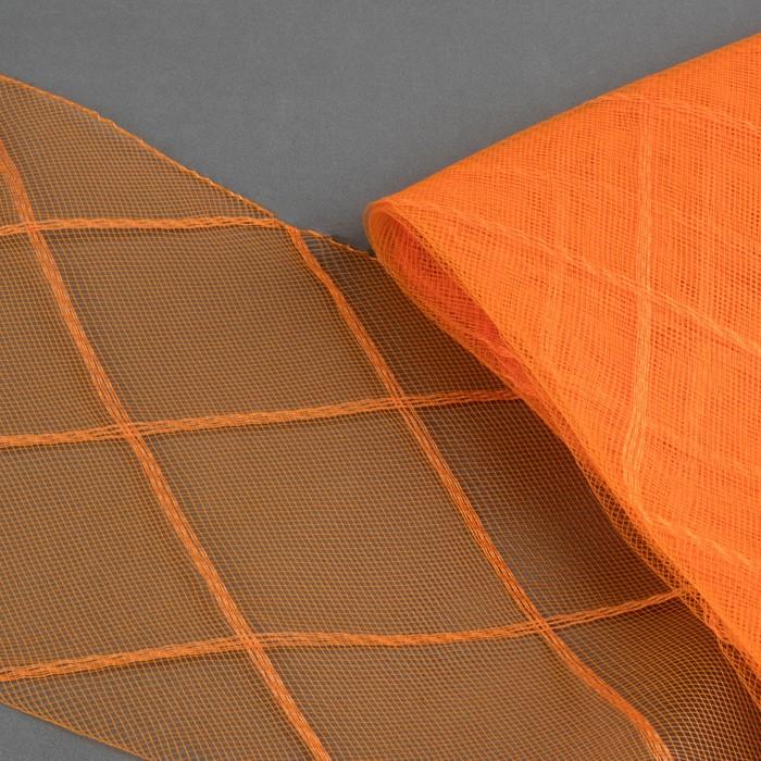 Регилин плоский «Клетка большая», 160 мм, 5 ± 0,5 м, цвет оранжевый
