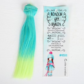 "Hair - tress for dummies ""Straight"" hair length 20 cm, width 100 cm, No. LSA038"