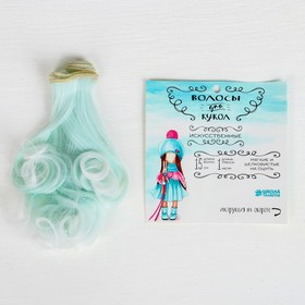 Волосы - тресс для кукол «Завитки» длина волос: 15 см, ширина: 100 см, №LSA001