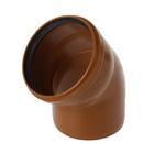 Отвод канализационный SK-plast, наружный, d=160, 45°