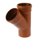 Тройник канализационный SK-plast, наружный, d=160, 45°