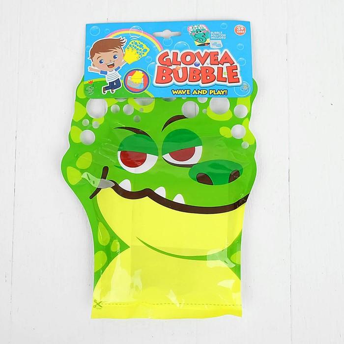 Набор для пускания мыльных пузырей с волшебной перчаткой «Крокодил»