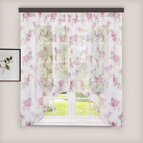 Curtain for the kitchen veil-print arch 285x160 cm, lilac, pe 100%