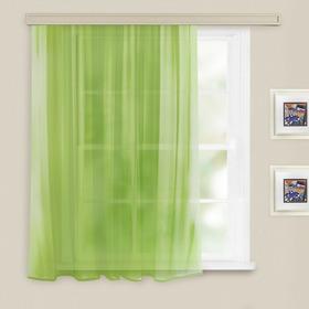Штора вуаль однотонная 140х145 см, цв. св. зеленый, пэ 100% Ош