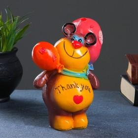 "Копилка ""Мишка с шариками"" 17х12,5см, МИКС"