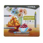 Пастель восковая акварельная LYRA AQUACOLOR 24 цветов 90/9.5 мм художественные L5611240