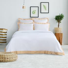 Постельное бельё Этель евро «Elite dreams» цвет бежевый, 200×220, 260×240, 70×70 - 2 шт., 50×70 - 2 шт.