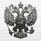 "Герб настенный ""Россия. Серебро"", 22,5 х 25 см"