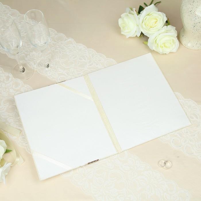 """Папка для свидетельства о заключении брака """"Мокко"""", ручной работы - фото 509601729"""