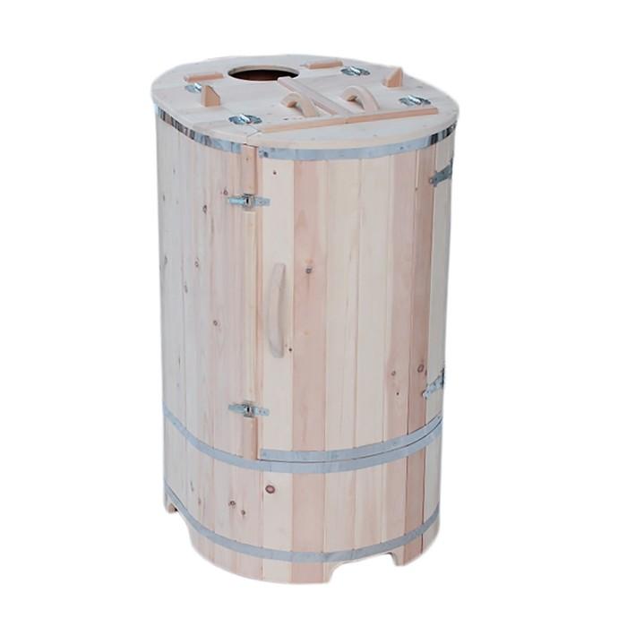 Кедровая фитобочка SMART овальная со скосом 130х78 см, толщина стенки 2,5 см