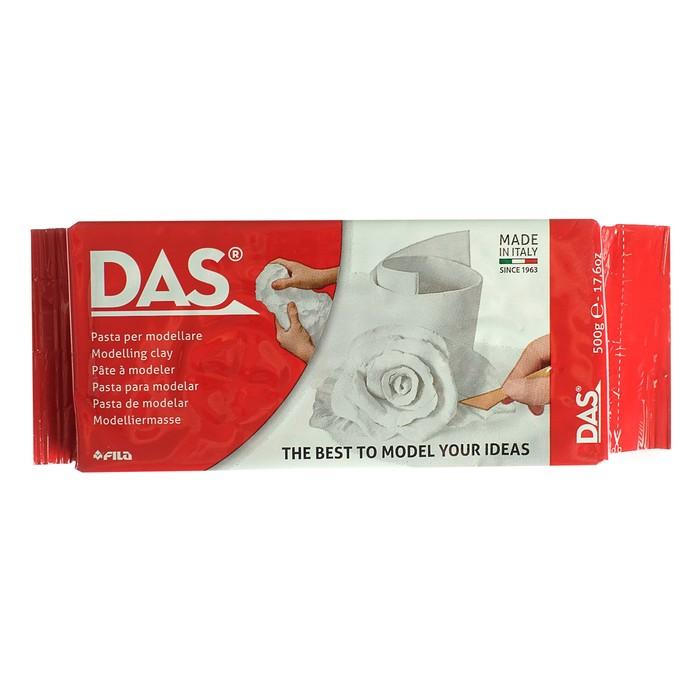 Глина натуральная для лепки, белая, DAS (можно запекать), 500 г