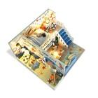 """Интерьерный домик - миниатюра, своими руками """"Дом на берегу моря"""" со светом"""