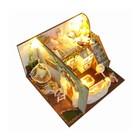 """Интерьерный домик - миниатюра, своими руками """"Дом девушки"""" со светом"""