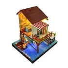 """Интерьерный домик - миниатюра, своими руками """"Дом на сваях"""" со светом"""