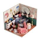 """Интерьерный домик - миниатюра, своими руками """"Комната с камином"""" со светом"""
