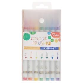 Набор акварельных маркеров с наконечником-кистью, 7 штук, 7 цветов
