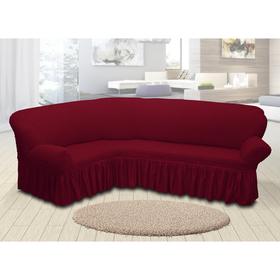 Чехол для мягкой мебели угловой диван 3-х местный 6055, трикотаж, 100%пэ,