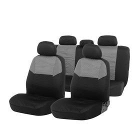 Seat covers seat TORSO Premium universal 9-piece, black and gray AV-26