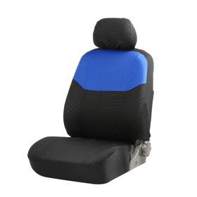 Seat covers seat TORSO Premium universal 9 items black-and-blue AV-27