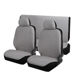 Seat covers seat TORSO Premium universal velour, 6 pieces, grey AV-40