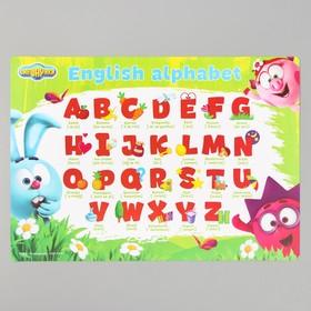 "Коврик для лепки ""Английский алфавит"" СМЕШАРИКИ, формат A4"