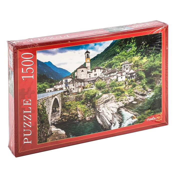 Пазл 1500 элементов «Швейцария. Лавертеццо»