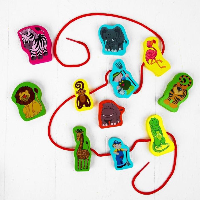 Шнуровка «Весёлый зоопарк» 11 элементов
