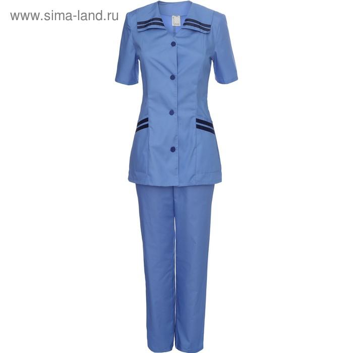 Костюм медицинский модель 28 синяя женский, размер 54, рост 170-176 см