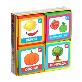 Набор мягких книжек-кубиков «Окружающий мир», ЭВА (EVA), 4 шт. по 12 стр.