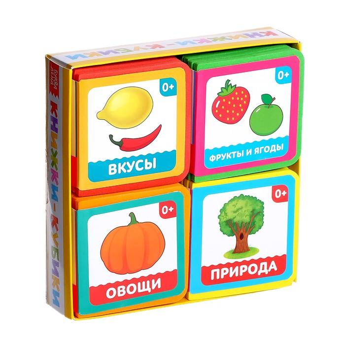 Набор мягких книжек-кубиков EVA «Окружающий мир», 4 шт. по 12 стр.