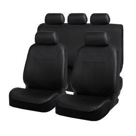 Авточехлы на сиденья TORSO Premium универсальные, 9 предметов, кож.зам, черный AV-44