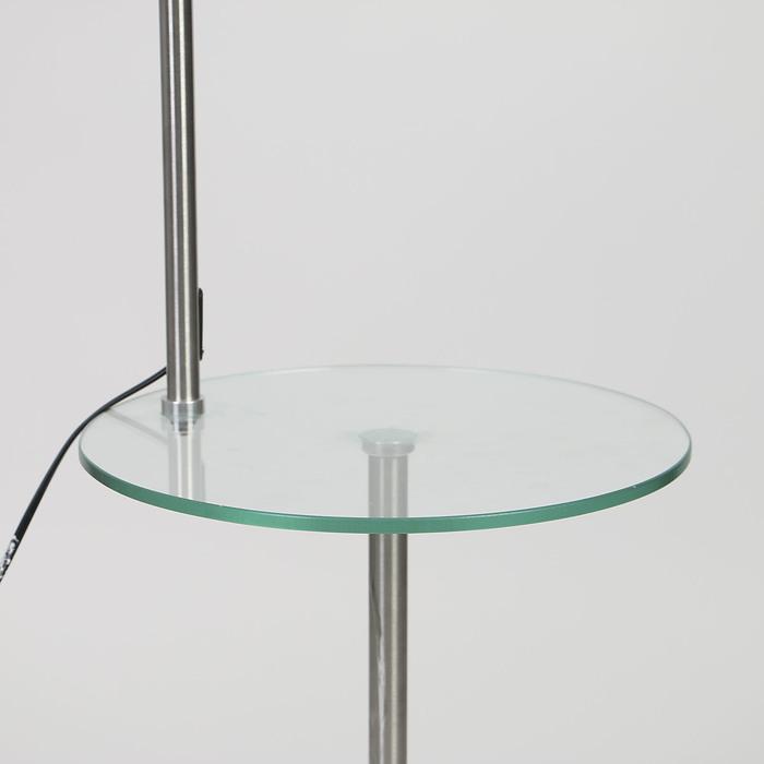 """Торшер напольный телескопический со столиком """"Эстет"""" Е27 60W подставка камень 172х51х33 см"""