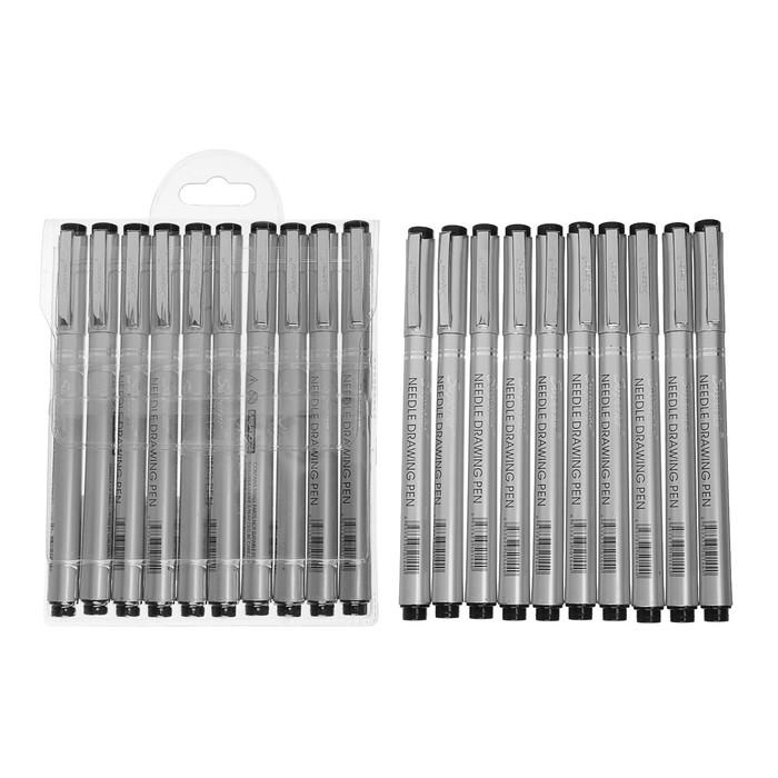 Набор чёрных линеров Superior, 10 шт.: 0.05 мм, 0.1 мм, 0.2 мм, 0.3 мм, 0.4 мм, 0.5 мм, 0.5 мм, 0.7 мм, 0.9 мм, 1.0 мм - фото 373644646