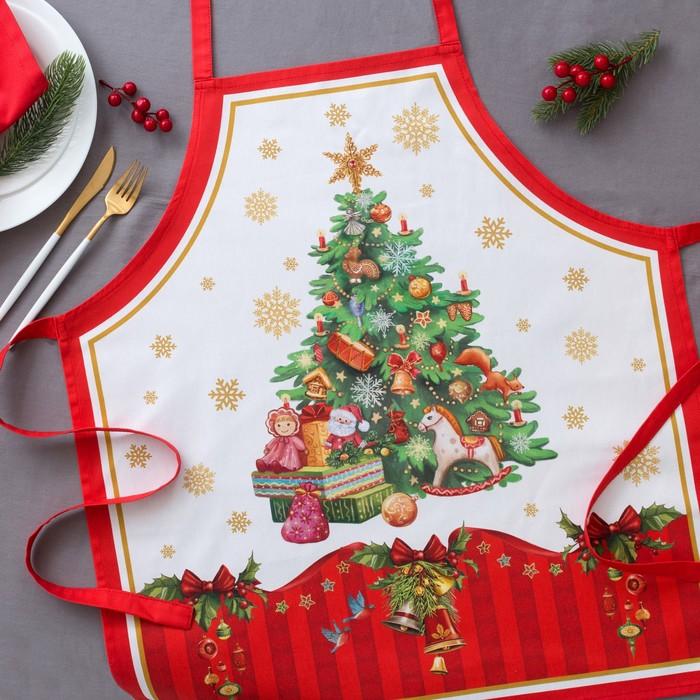 Фартук «Этель: Новогодняя сказка», 65 × 60 см, 100 % хлопок, саржа, 190 г/м²