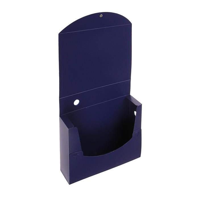 Короб архивный А4 на кнопке разборный, 70 мм пластик, 800 мкм Calligrata, синий - фото 450113573