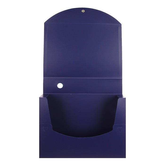 Короб архивный А4 на кнопке разборный, 70 мм пластик, 800 мкм Calligrata, синий - фото 450113574
