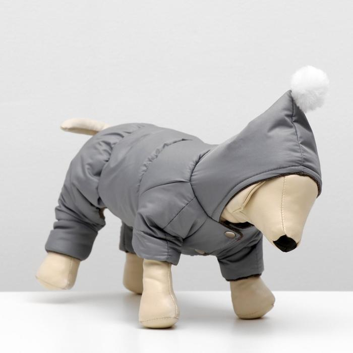 Комбинезон для собак с помпоном, размер 2XL (ДС 34-36 см, ОШ 34-36 см, ОГ 50-52 см)