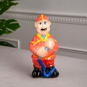 """Копилка """"Пожарник"""", глазурь, разноцветная, 23 см, микс"""