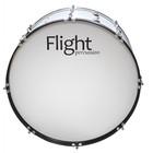 Маршевый бас-барабан FLIGHT FMB-2210WH . В комплекте палочки и ремень для барабана
